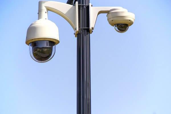 Speed Dome PTZ CCTV Cameras Pole-Mounted